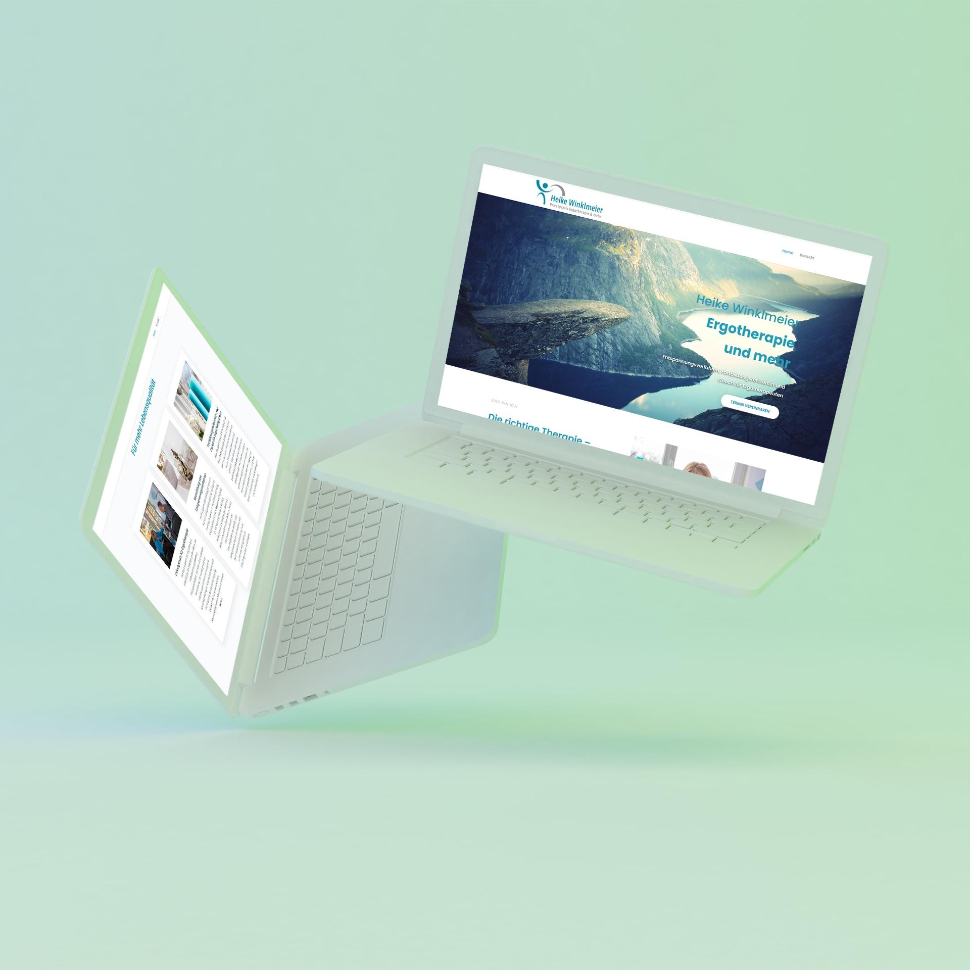 freiSign Werbeagentur Nordhorn: Ergotherapie Webseite